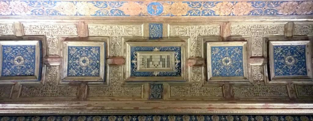 Pentagrama en el techo del studiolo de Isabella d´Este en su Palacio de Mantua