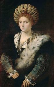 Tiziano. Isabella d´ Este, hacia 1534-1536