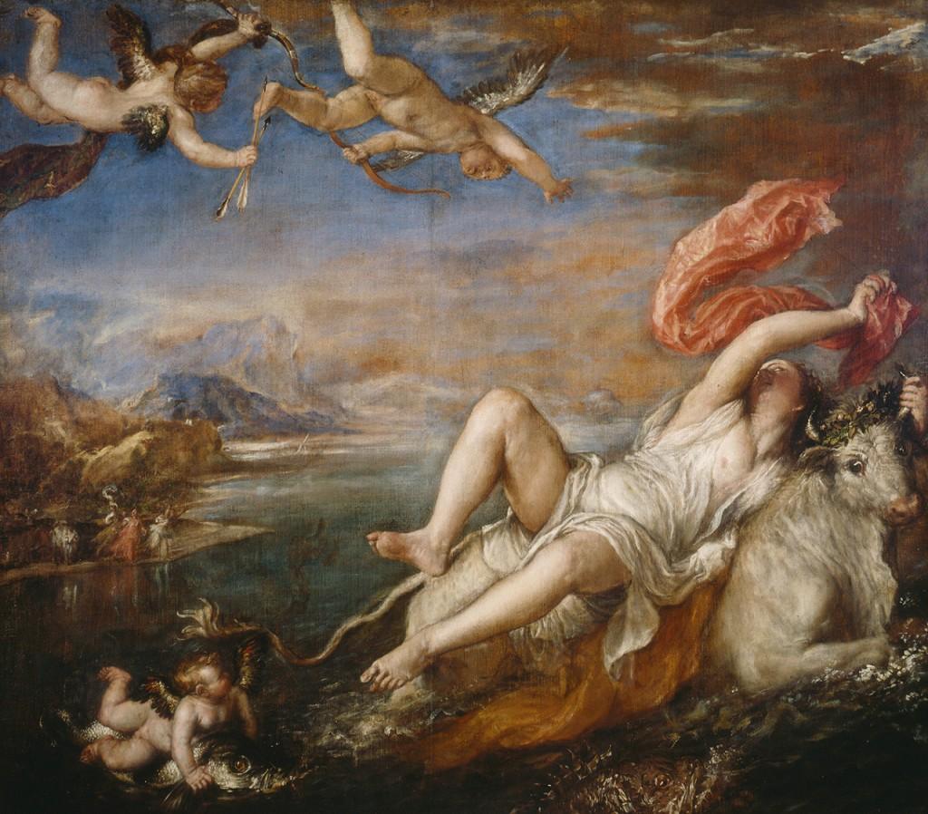 Tiziano. El rapto de Europa, hacia 1559-1562. Isabella Stewart Gardner Museum