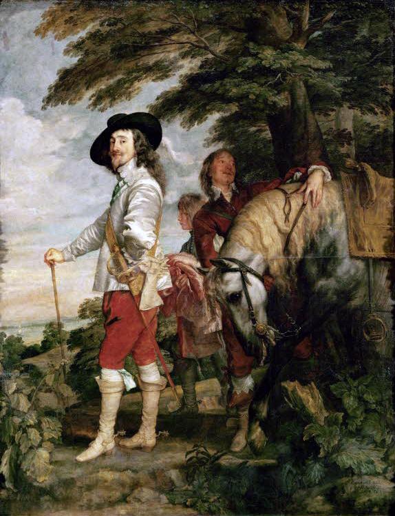 Van Dyck. Carlos I de Inglaterra, hacia 1635. Museo del Louvre