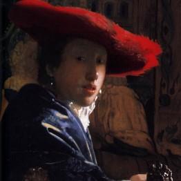 Vermeer. Muchacha con sombrero rojo, hacia 1666-1667. National Gallery, Washington