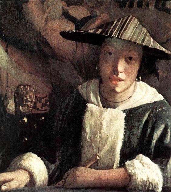 Vermeer. Muchacha con flauta, hacia 1666-1667. National Gallery, Washington