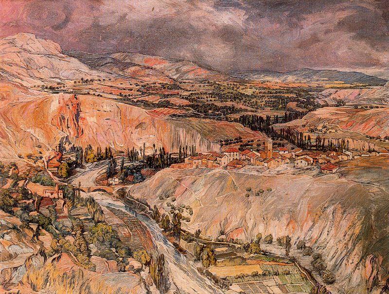 Zuloaga. Paisaje de Navarra