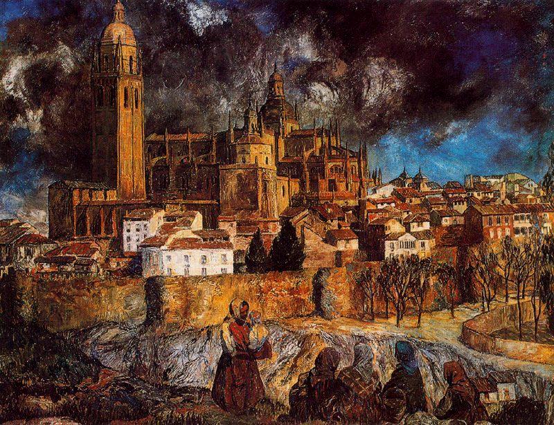 Zuloaga. Vista de Segovia