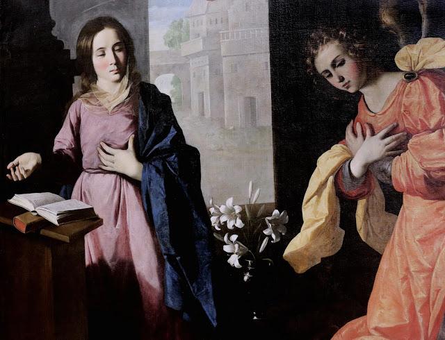 Francisco de Zurbarán. La Anunciación, 1639. Musée des Beaux Arts, Grenoble