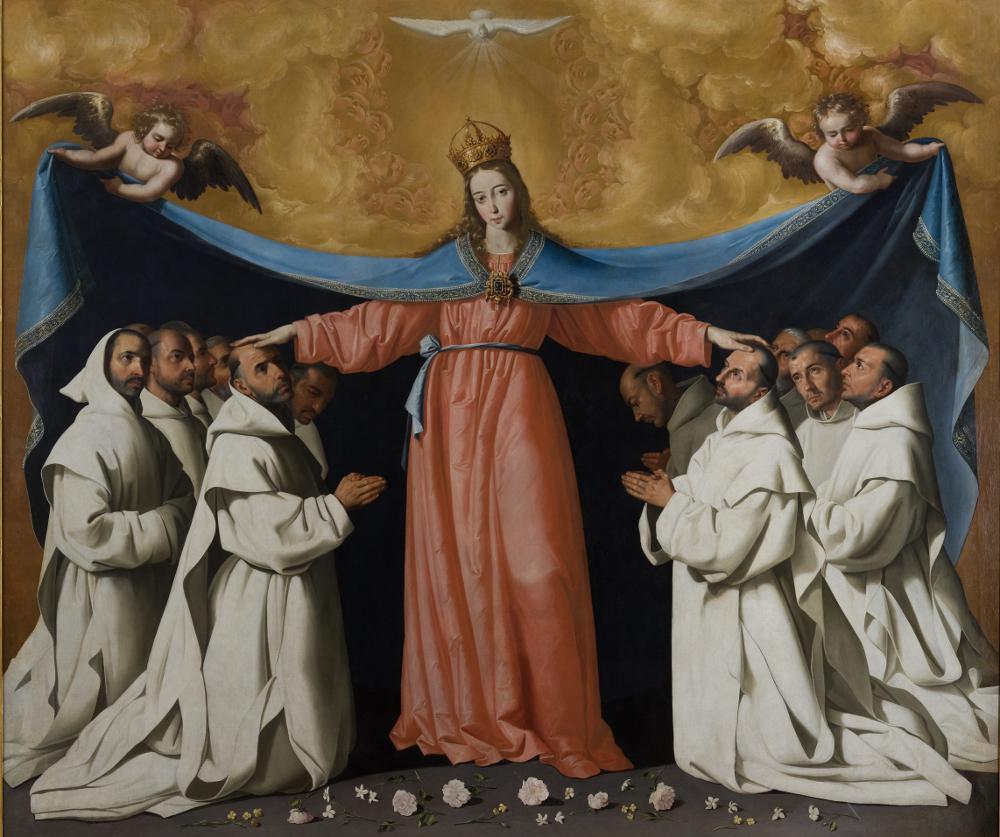 Francisco de Zurbarán. La Virgen de las Cuevas, hacia 1655. Museo de Bellas Artes de Sevilla