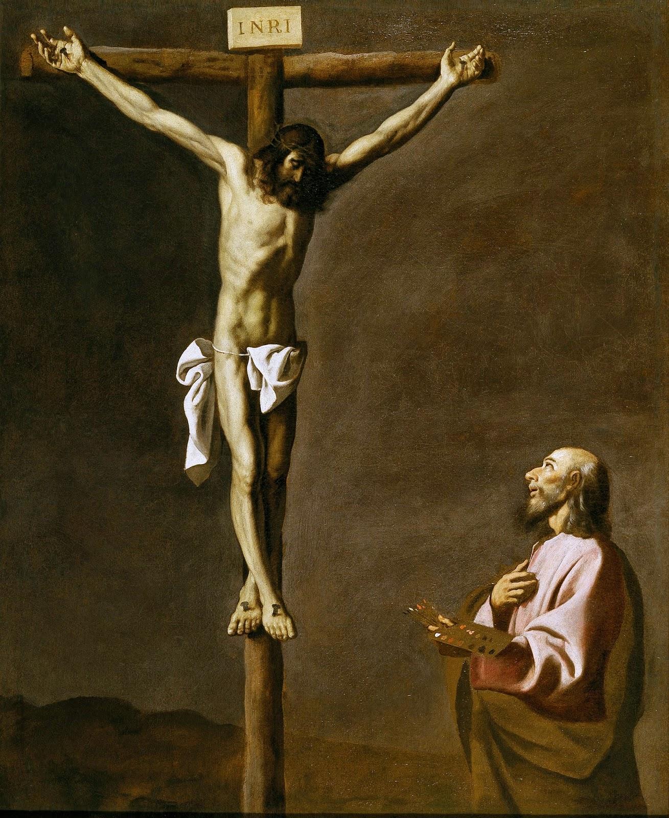 Francisco de Zurbarán. San Lucas como pintor ante Cristo en la Cruz, 1630-1639. Museo Nacional del Prado