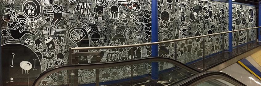 Línea ZERO. Moncloa. Arte urbano y grafiti en el metro de Madrid