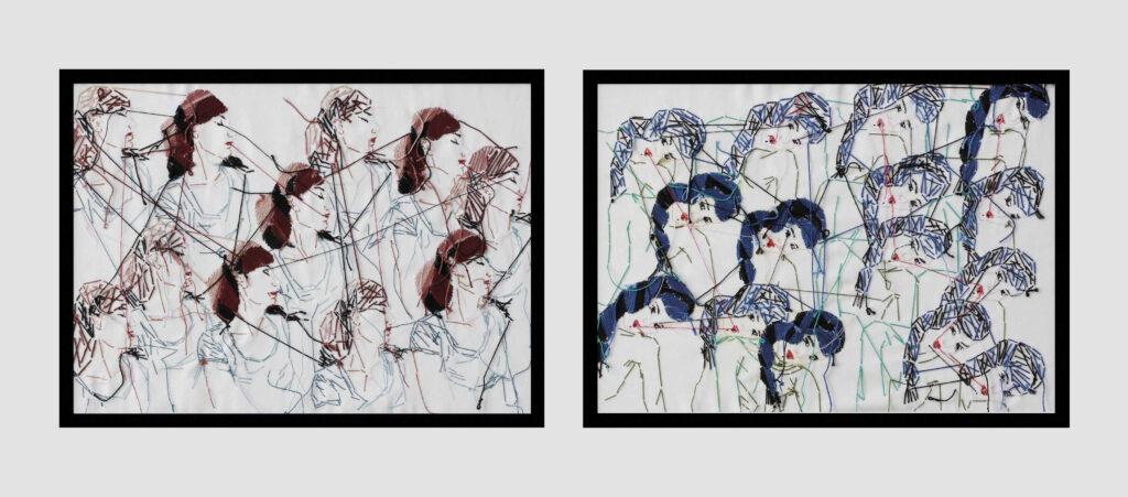 Adassa Santana. Specto. Red de Retratos, n.1 y 2, 2016. Sala de Arte Contemporáneo. Gobierno de Canarias