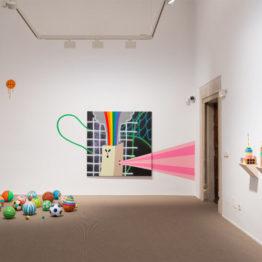 """Albert Pinya en la exposición """"Panta Rei"""". Galería Pelaires, 2018. © David Bonet"""