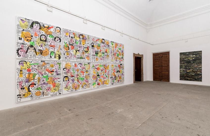"""Albert Pinya. Vista de la exposición """"Hibridaciones"""" en Casal Solleric, 2019. © Grimalt de Blanch"""