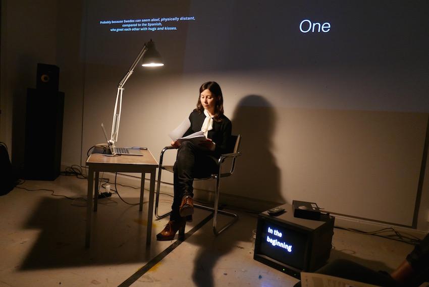 An Intellectual History of the Clock. Conferencia performativa. Malongen - NKF, Estocolmo, 2016, en el marco de CuratorLab, Konstfack University. Foto: © Álvaro Campo