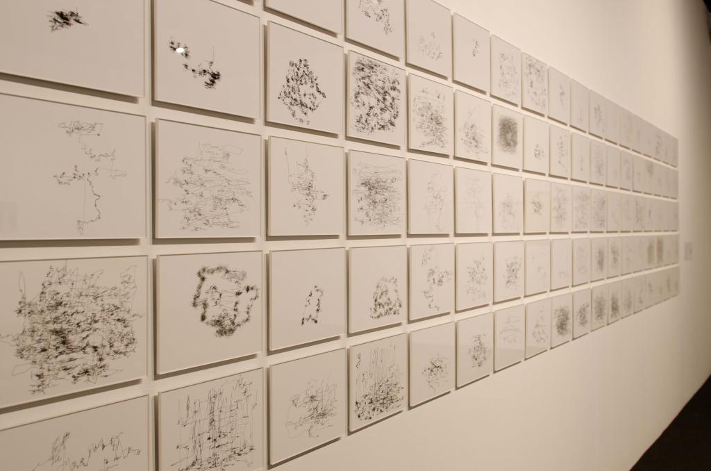 """Damià Vives Infante. Cartografies de paisatges interurbans I en la exposición """"Salirse de la línea"""". en Bòlit. Centre d'Art Contemporani, 2017"""
