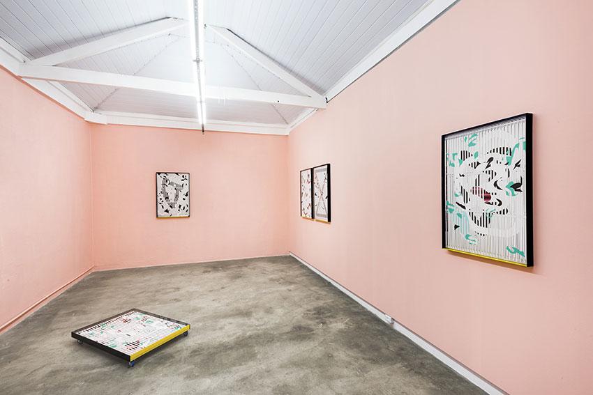 Raúl Díaz Reyes. I'M THE PROBLEM, Vista de la exposición, Ateliê Fidalga, São Paulo, 2016