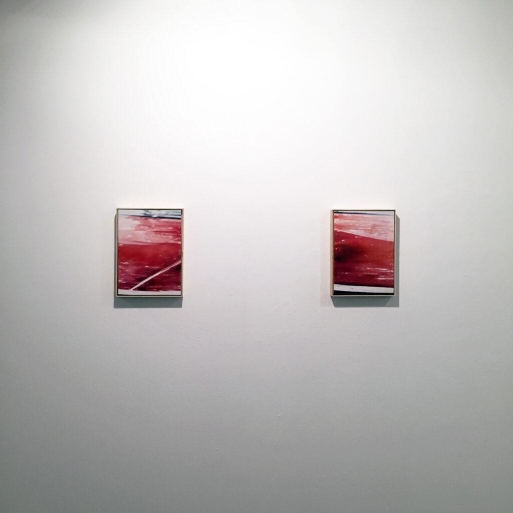 """Diego Vallejo Pierna. Sin título I, II (negativo), 2018. """"Usher 'la caída'"""" Sala de exposiciones Unamuno, Salamanca"""