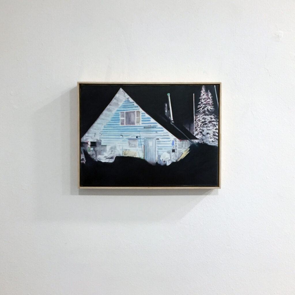 """Diego Vallejo Pierna. Sin título (negativo), 2018. """"Usher 'la caída'"""" Sala de exposiciones Unamuno, Salamanca"""