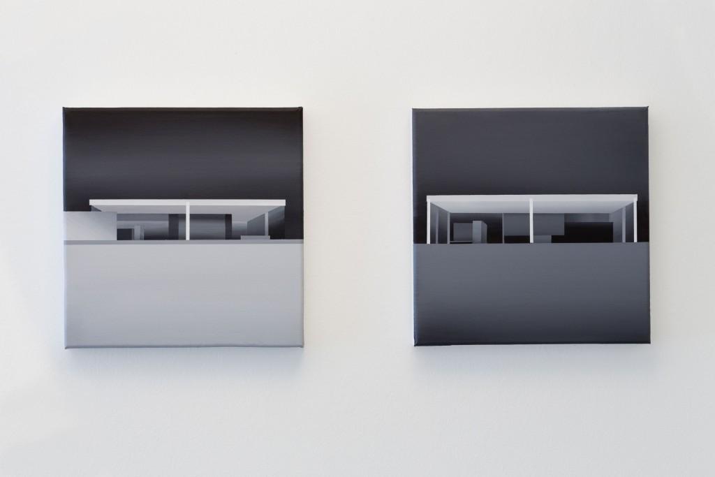 """Fernando Romero. Cajas de cristal II y III, 2016. """"Paseo hasta la linde"""""""