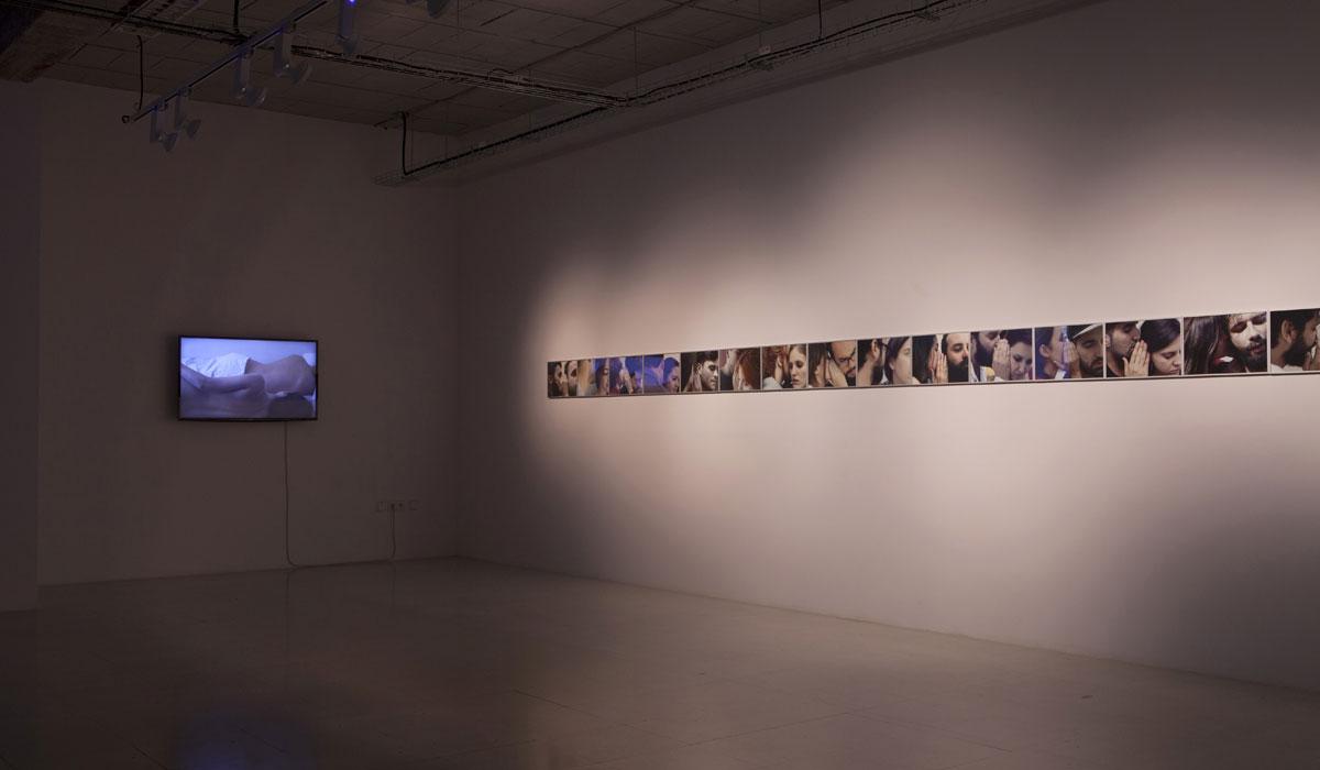 Florencia Rojas. Vista de sala, proyecto Luna-Lager Bunker