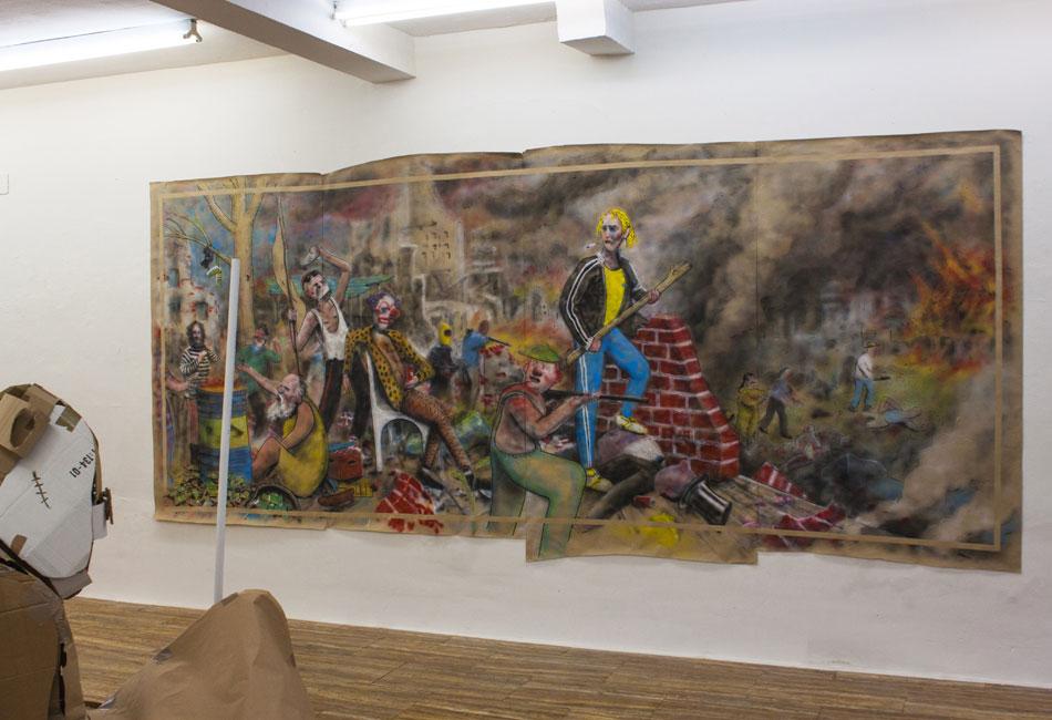 Ignacio García Sánchez. Lumpenkult. Vista de la instalación en la Galería Fúcares, 2018