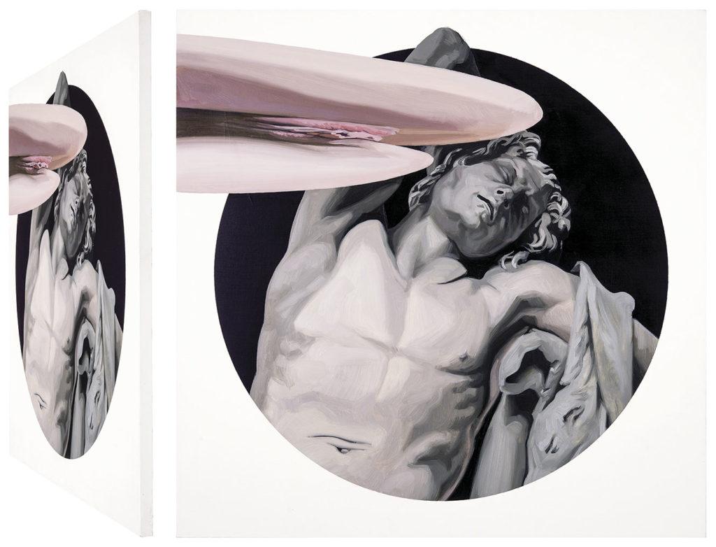 Carmen González Castro. Fauno y ninfa. Serie O Tempora, o mores, 2015
