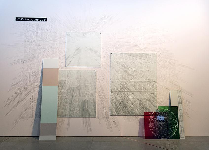 Laura F. Gibellini. Atmósferas e Interrupciones I. Vista de instalación en Matadero Madrid 2018. Fotografía de Miguel Lizana