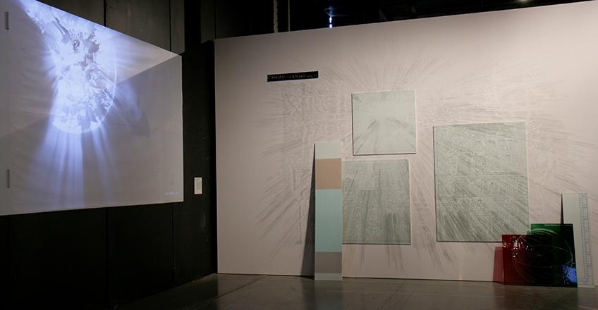 Laura F. Gibellini. Atmósferas e Interrupciones I y ROMA. LSR 170516 – 170304. Vista de la instalación en Matadero Madrid, 2018