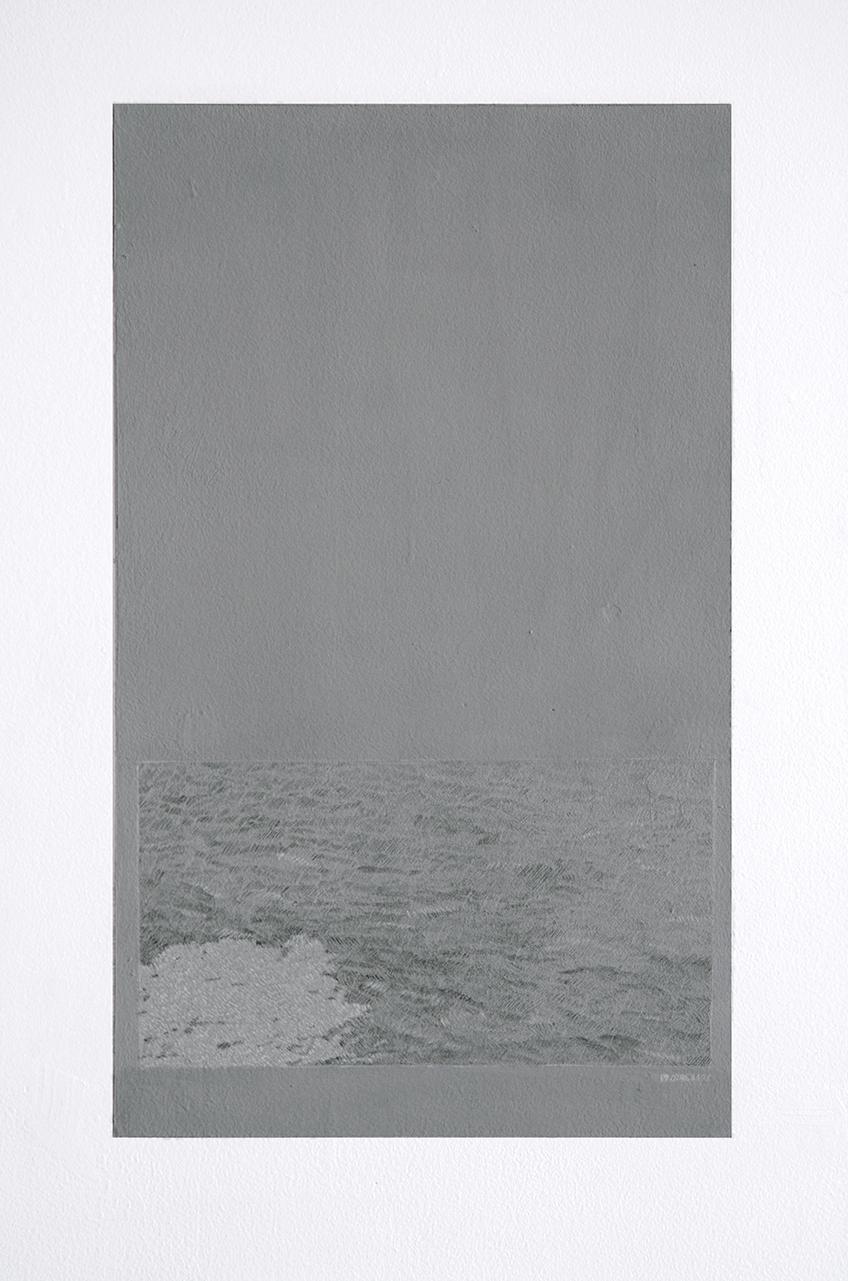 Laura F. Gibellini. Snow Drawing. Vista de instalación en El Museo de Los Sures, Nueva York, 2015