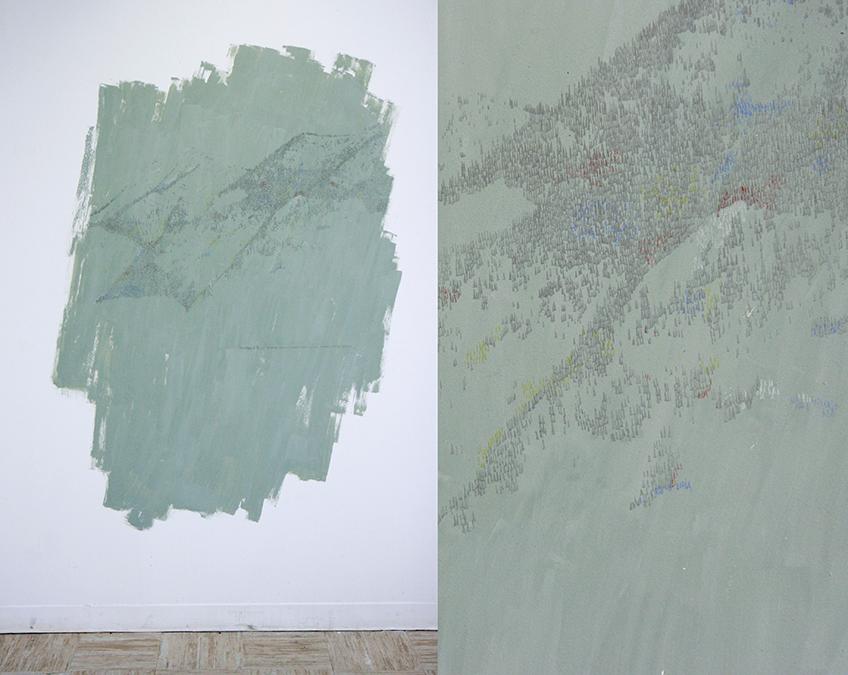Laura F. Gibellini. Boundary of (In)visible Ice. Vista de instalación en The Banff Centre for Arts & Creativity. Alberta, 2017.