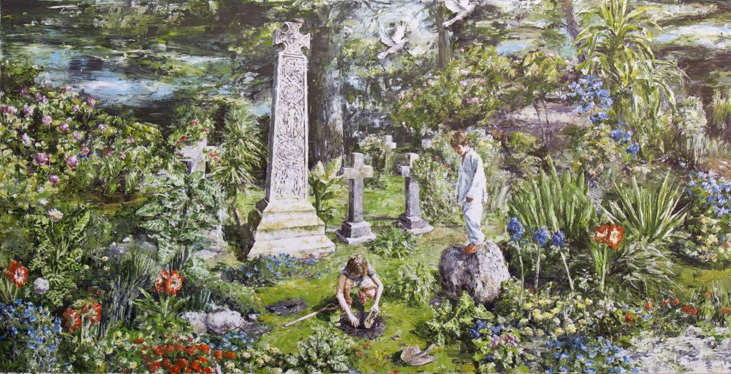 Heli García. Primavera exuberante en el cementerio de Coniston, 2017