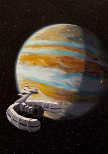 Iker Serrano. Júpiter, 2015-2016. La journée d ́un journaliste américain en 2889, Jules Verne (1889)