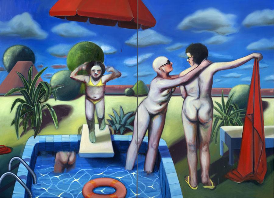 Ivana de Vivanco. A Peculiar Pool Party Between Brandenburg and Cairo, 2018