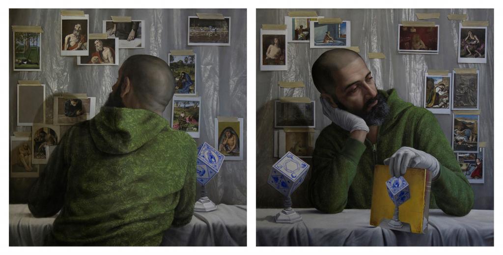 Jesús Herrera Martínez. Melankolsk selvportraet forfra og bagfra, 2017. PORTRAIT NOW 2017