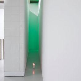 "Christian Lagata. Vista de la exposición ""Verde Chroma"" en el Centro Párraga, 2019"