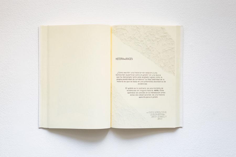Paula García-Masedo. Gotelé, Proyecto para la recuperación de las paredes lisas de una galería de arte. Twin Gallery, 2017