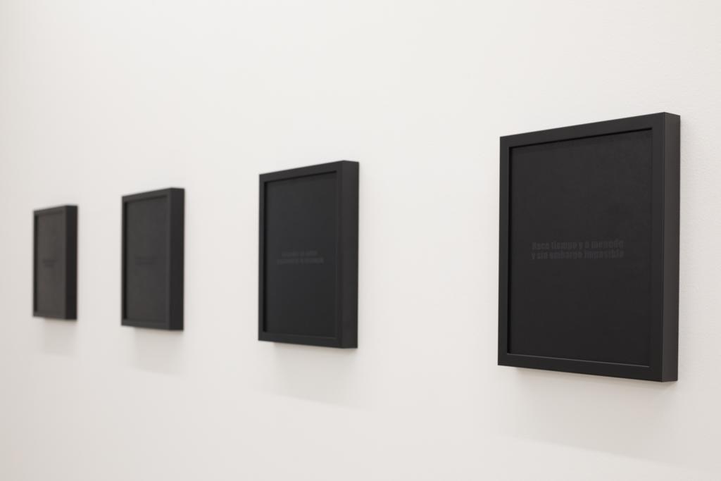 """Rosendo Cid. Negro sobre negro. """"La duda es el único estado posible"""". Galería Nordés, 2018"""