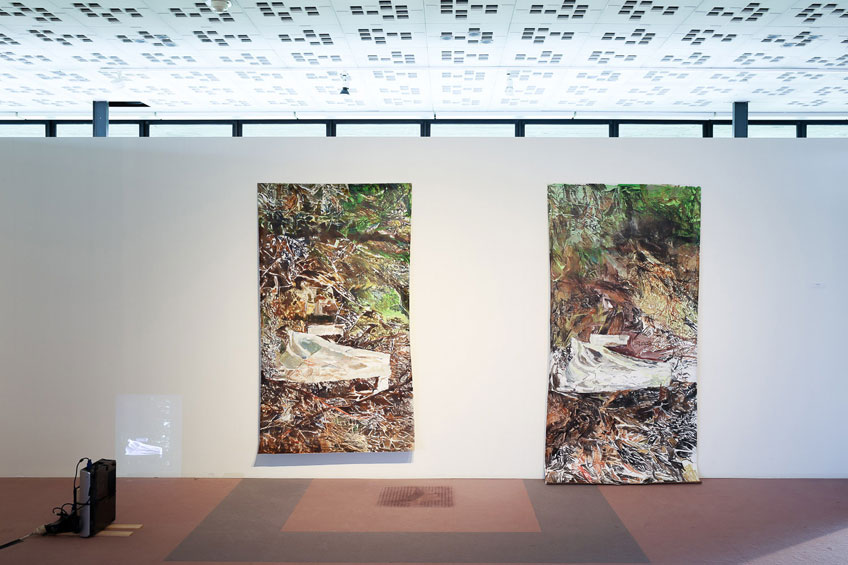 "Veva Linaza. Serie Ermua. Exposición ""Azimuth"" Cultuurcentrum Hasselt (CCHA), 2018"