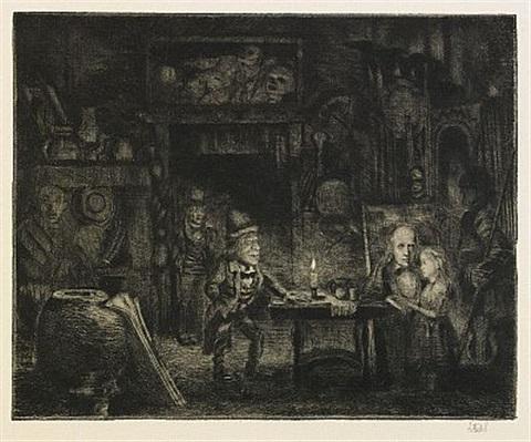 Axel Fridell. La pequeña Dorrit en la vieja tienda de antigüedades