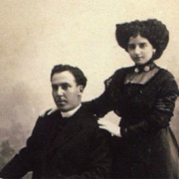 Antonio Machado y Leonor Izquierdo el día de su boda, en 1909