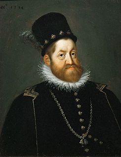 Joseph Heintz el Viejo. Retrato de Rodolfo II