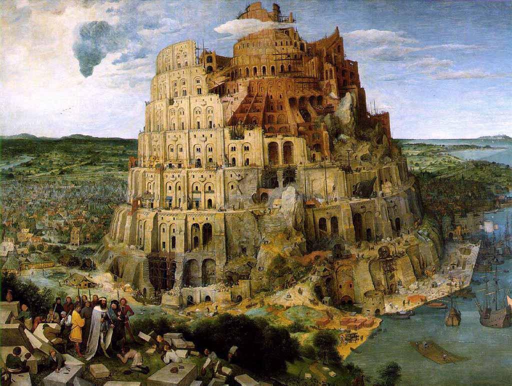 Brueghel el Viejo. La torre de Babel,  1563
