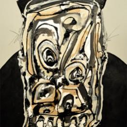 Antonio Saura. Retrato imaginario nº1, 1989. Galería Marc Calzada
