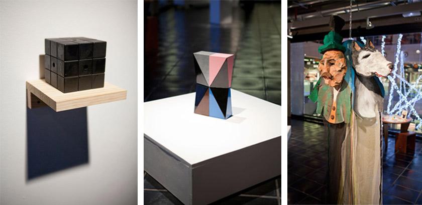 Cubo Negro (2011), de Rómulo Bañares, Torso (2009), de Kiko Pérez y Sunday (2012), de Lili Hartman