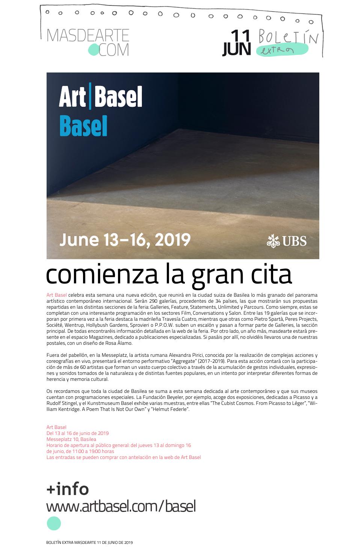 Extra masdearte: comienza Art Basel, la gran cita con el arte contemporáneo