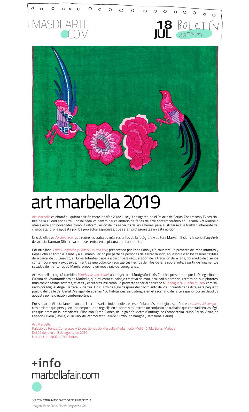 Extra masdearte: novedades en la próxima edición de Art Marbella