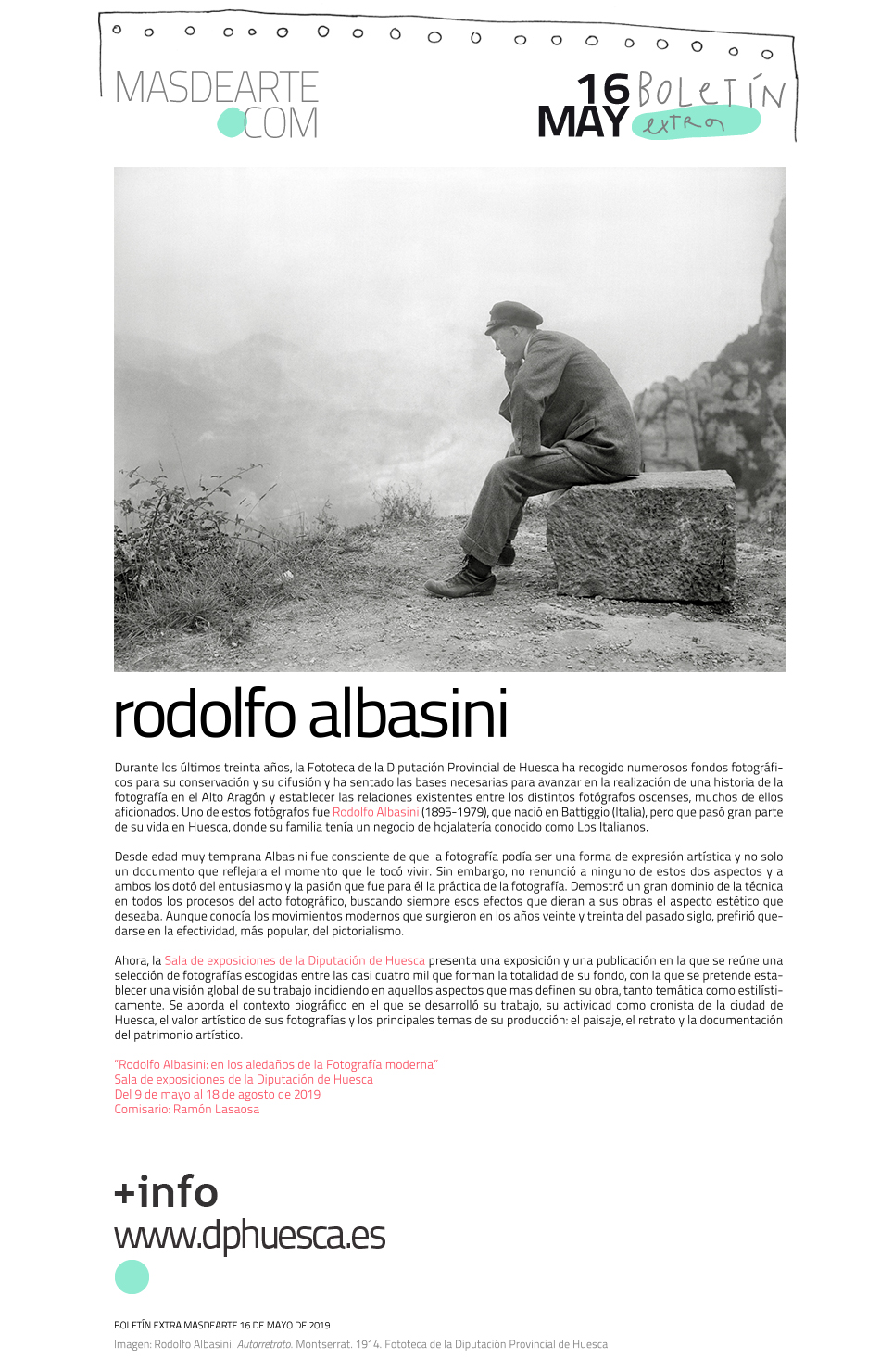 Rodolfo Albasini: en los aledaños de la Fotografía moderna. Sala de exposiciones de la Diputación de Huesca
