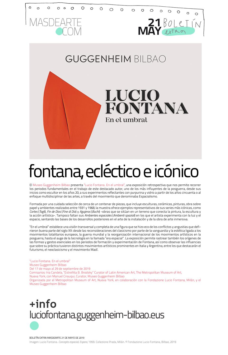 Extra masdearte: Lucio Fontana, retrospectiva en el Museo Guggenheim Bilbao