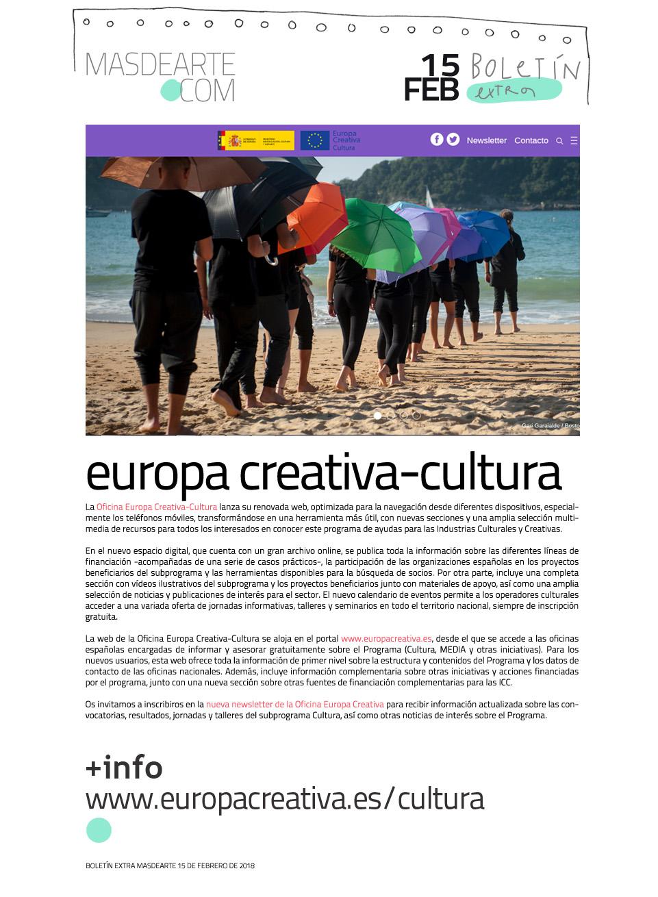 La Oficina Europa Creativa-Cultura estrena web: www.europacreativa.es/cultura