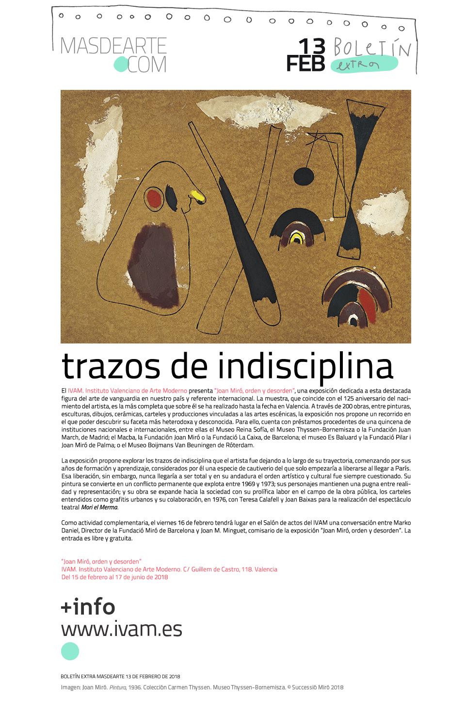 Extra masdearte: ''Joan Miró, orden y desorden'' en el IVAM