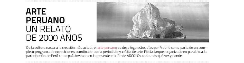 Programa de exposiciones sobre Perú en paralelo a ARCOmadrid 2019