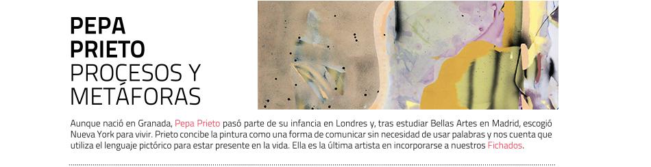 Pepa Prieto, artista. Fichados